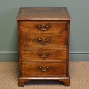 Quality Small Georgian Mahogany Antique Cabinet / Chest