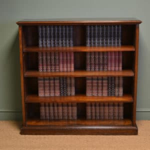 Large Victorian Mahogany Antique Open Bookcase