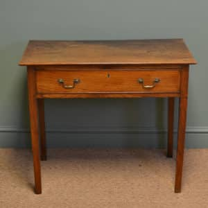 Rare Georgian Elm Antique Side Table