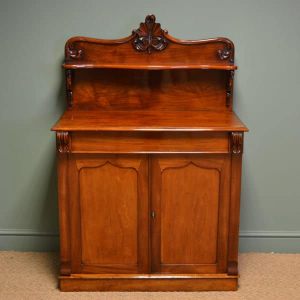 Superb Quality Victorian Figured Mahogany Antique Chiffonier / Cupboard