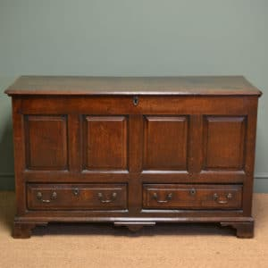 Period Country Figured Oak Antique Mule Chest