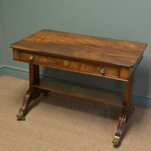 Superb Quality Victorian Figured Mahogany Antique Sofa / Side Table