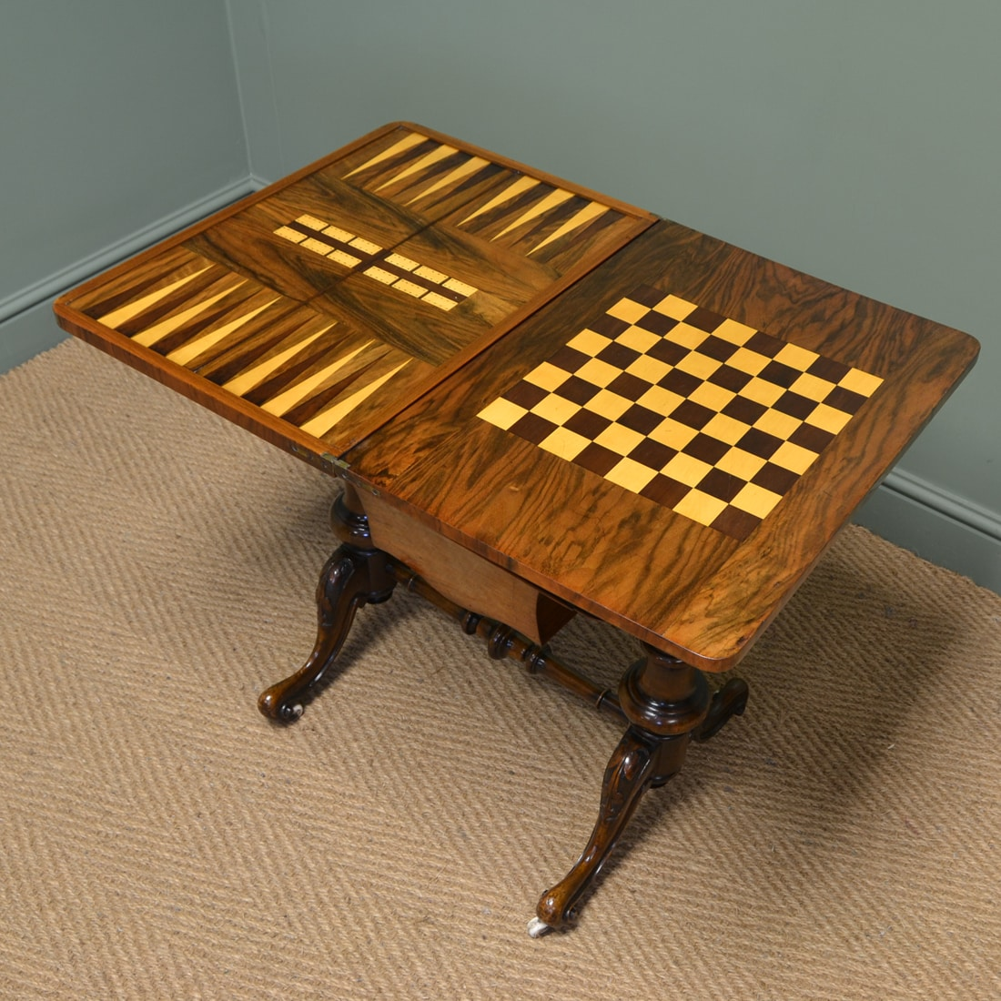 inlaid chess and bridge board