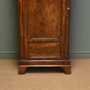 Unusual William IV Small Antique Figured Mahogany Wardrobe