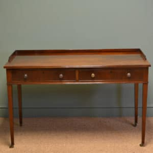Superb Quality Large Edwardian Mahogany Antique Writing Table