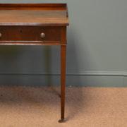 Superb Quality Large Edwardian Mahogany Antique Writing Table