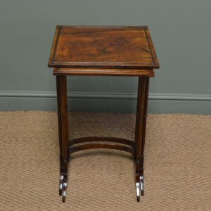 Victorian Rosewood Nest Of Two Antique Occasional Tables