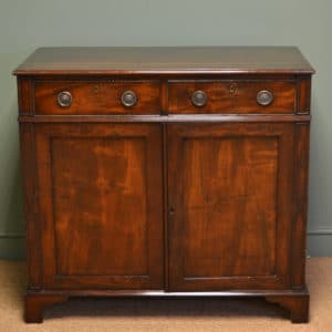 Figured Mahogany Victorian Country Antique Cupboard