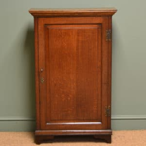 Period Georgian Oak Small Slim Antique Cupboard