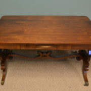 Spectacular 19th Century Figured Rosewood Antique Sofa / Side Table