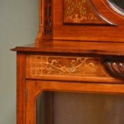 Spectacular Inlaid Mahogany Victorian Antique Display Cabinet