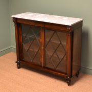 Superb Quality William IV Rosewood Antique Bookcase / Cabinet