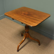 Beautifully Figured Regency Mahogany Antique Side / Lamp / Occasional Table