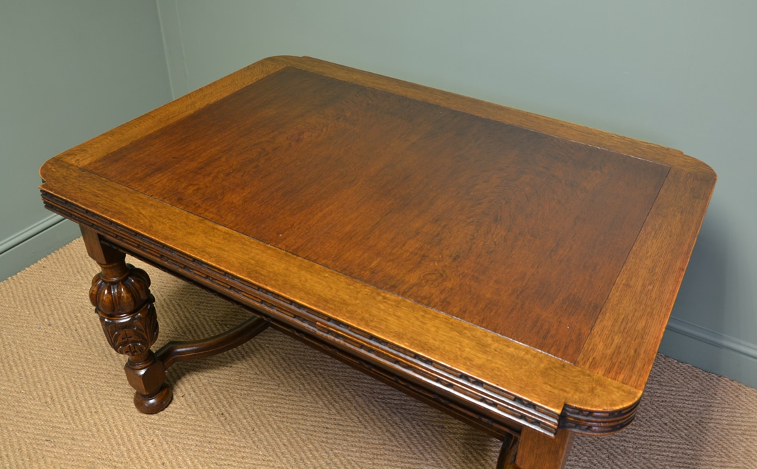 Quality Edwardian Pineapple Leg Antique Oak Extending  : 64695 from antiquesworld.co.uk size 1100 x 682 jpeg 603kB