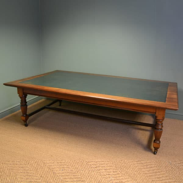 Superb Quality Huge Warings Victorian Walnut Antique Board Room Table