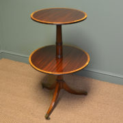 Rare Superb Quality Victorian Figured Mahogany Drop Leaf Occasional Table