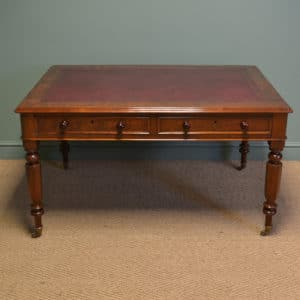 Spectacular Quality Victorian Mahogany Antique Partners Writing Table / Desk