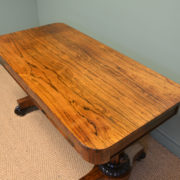 Spectacular Regency Rosewood Antique Partners Writing Table / Desk