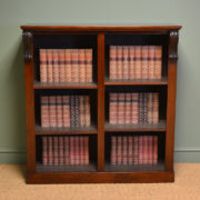 Victorian Rich Mahogany Antique Open Bookcase