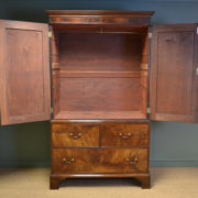 Georgian Figured Mahogany Antique Press / Wardrobe