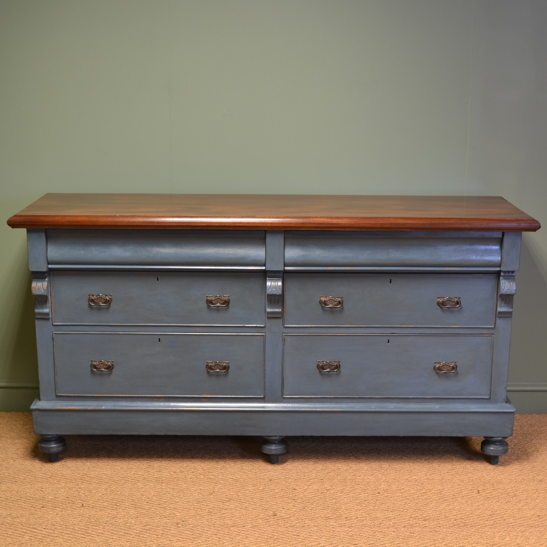 Victorian Painted Antique Sideboard