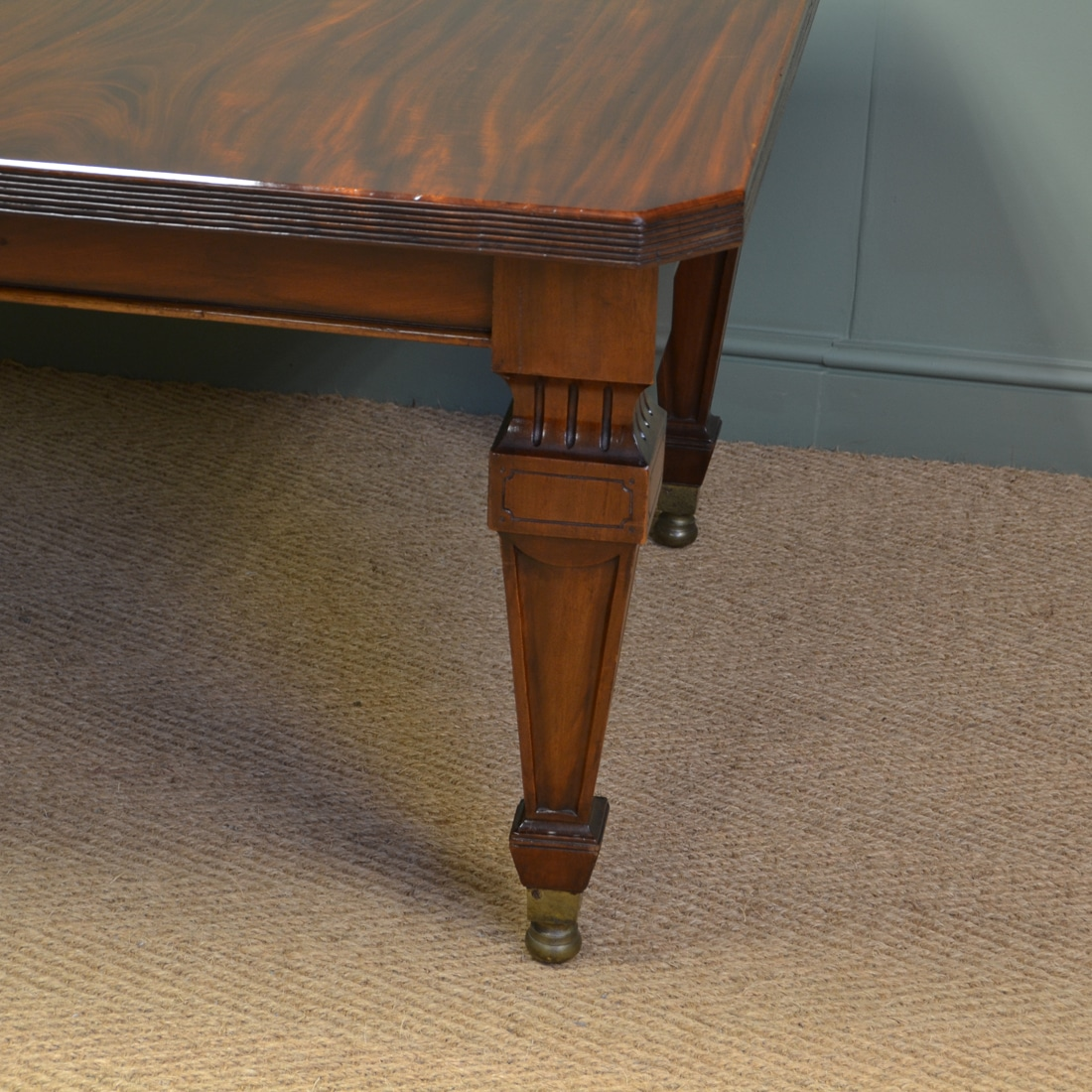 Spectacular quality huge 12ft victorian mahogany antique extending wind out dining table - Quality dining tables ...