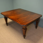 Spectacular Quality Huge 12ft Victorian Mahogany Antique Extending Wind Out Dining Table