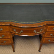 Fine Quality Victorian Inlaid Fiddle Back Mahogany Antique Writing Desk