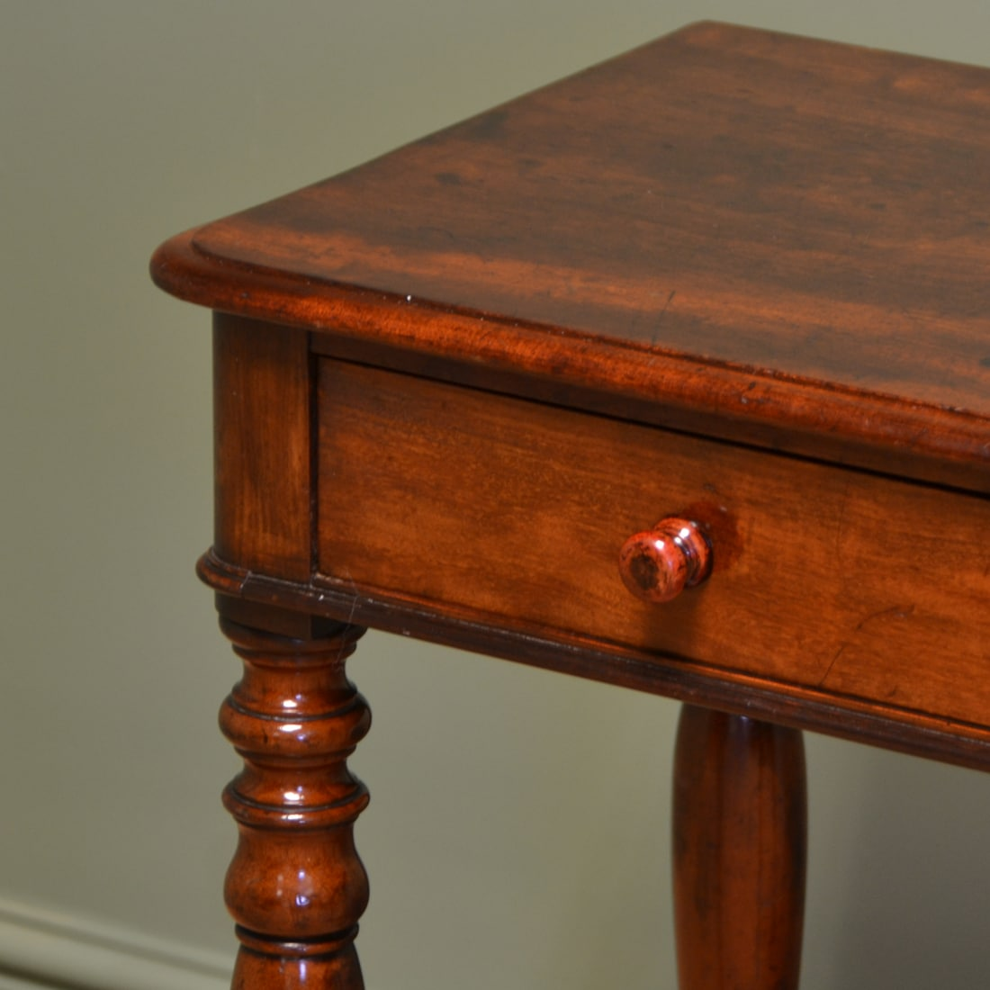 Small Victorian Mahogany Antique Side Lamp Table