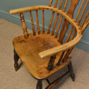 Georgian Ash and Elm Antique Windsor Chair
