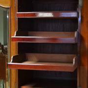 Beautifully Figured Victorian Mahogany Antique Triple Wardrobe