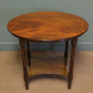 Unusual Figured Mahogany Edwardian Cluster Column Table