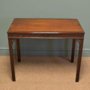 Superb Quality Edwardian Mahogany Chippendale Revival Antique Side / Writing Table
