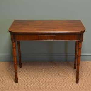 Elegant Regency Mahogany Antique Games / Console Table
