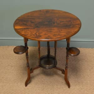 View Unusual High Quality Victorian Rosewood Arts And Crafts Occasional  Table