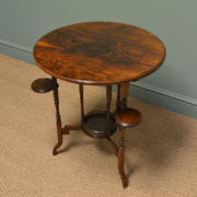 Unusual High Quality Victorian Rosewood Arts And Crafts Occasional Table