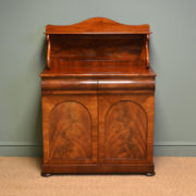 Elegant Victorian Figured Flamed Mahogany Antique Chiffonier / Cupboard