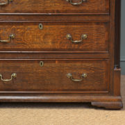 Superb Oak and Mahogany Cross Banded Large Antique Georgian Lancashire Chest