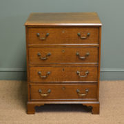 Small Country Oak Antique Georgian Chest Of Drawers