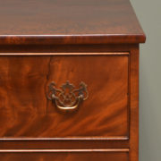 Superb Quality Small Victorian Figured Mahogany Antique Chest Of Drawers