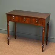 Elegant Regency Mahogany Antique Side Table