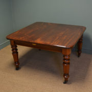 Spectacular Victorian Plum Pudding Extending Antique Dining Table