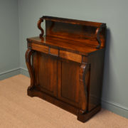 Stunning Early Victorian Figured Rosewood Antique Chiffonier / Cupboard