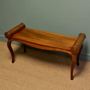 Unusual Edwardian Antique Mahogany Window Seat