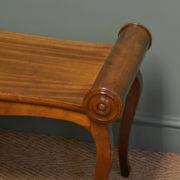 Unusual Edwardian Antique Mahogany Window Seat