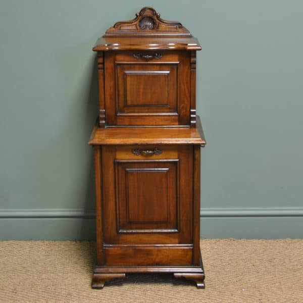 Quality Victorian Walnut Antique Coal Purdonium