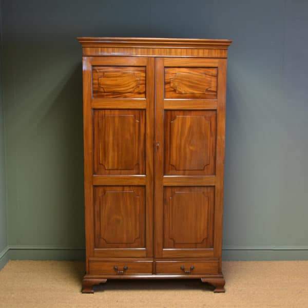 Quality Figured Mahogany Antique Victorian Double Wardrobe