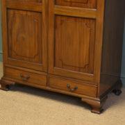 Quality Figured Mahogany Antique Victorian Double Wardrobe
