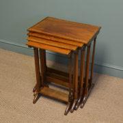 Stunning Quality Nest of Four Edwardian Inlaid Mahogany Tables