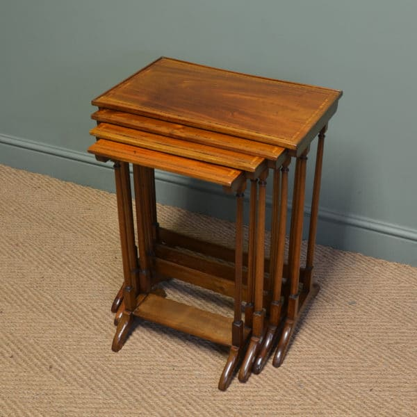 Stunning Quality Nest of Four Edwardian Inlaid Mahogany Tables